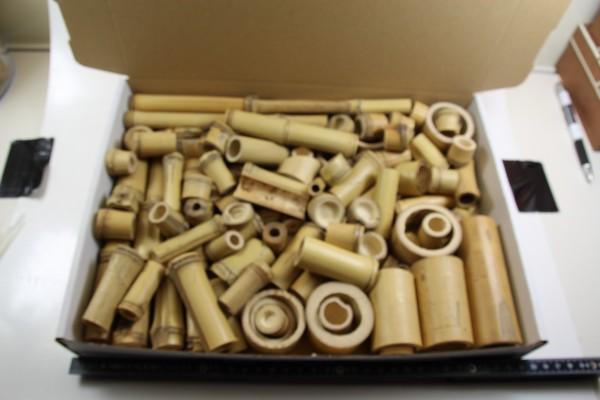 Bambus Reste Kiste groß