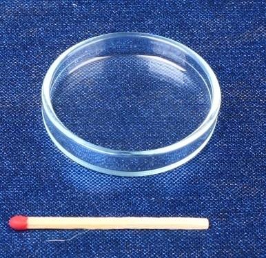 Glas Futterschüssel Ø 40mm, Randhöhe 6mm