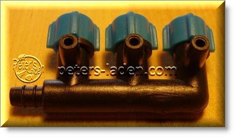 PVC Luftverteiler 3 fach