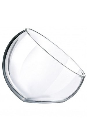Futterhaus-Pflanzschale aus Glas. M